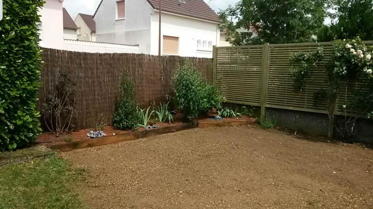 Création palissade et plantations Après - C'DECO paysagiste Côte d'Or, Dijon